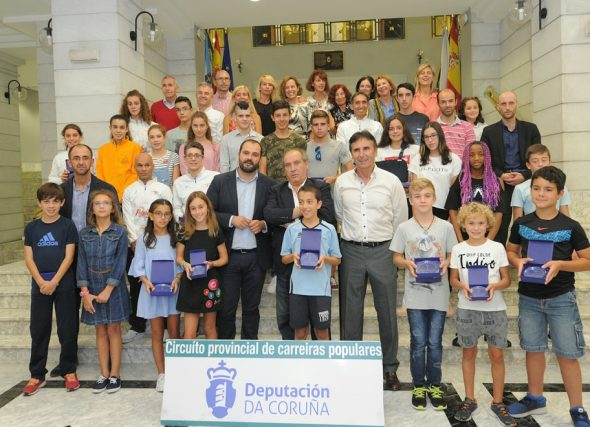Entrega dos premios do IV Circuito Carreiras Populares Deputación da Coruña