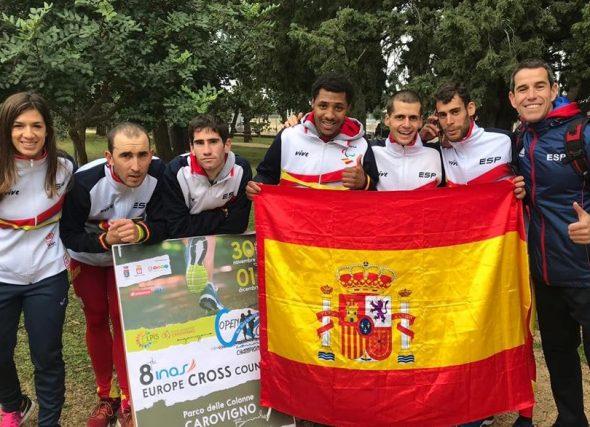 Alejandro Montero, campión europeo de cros INAS por equipos