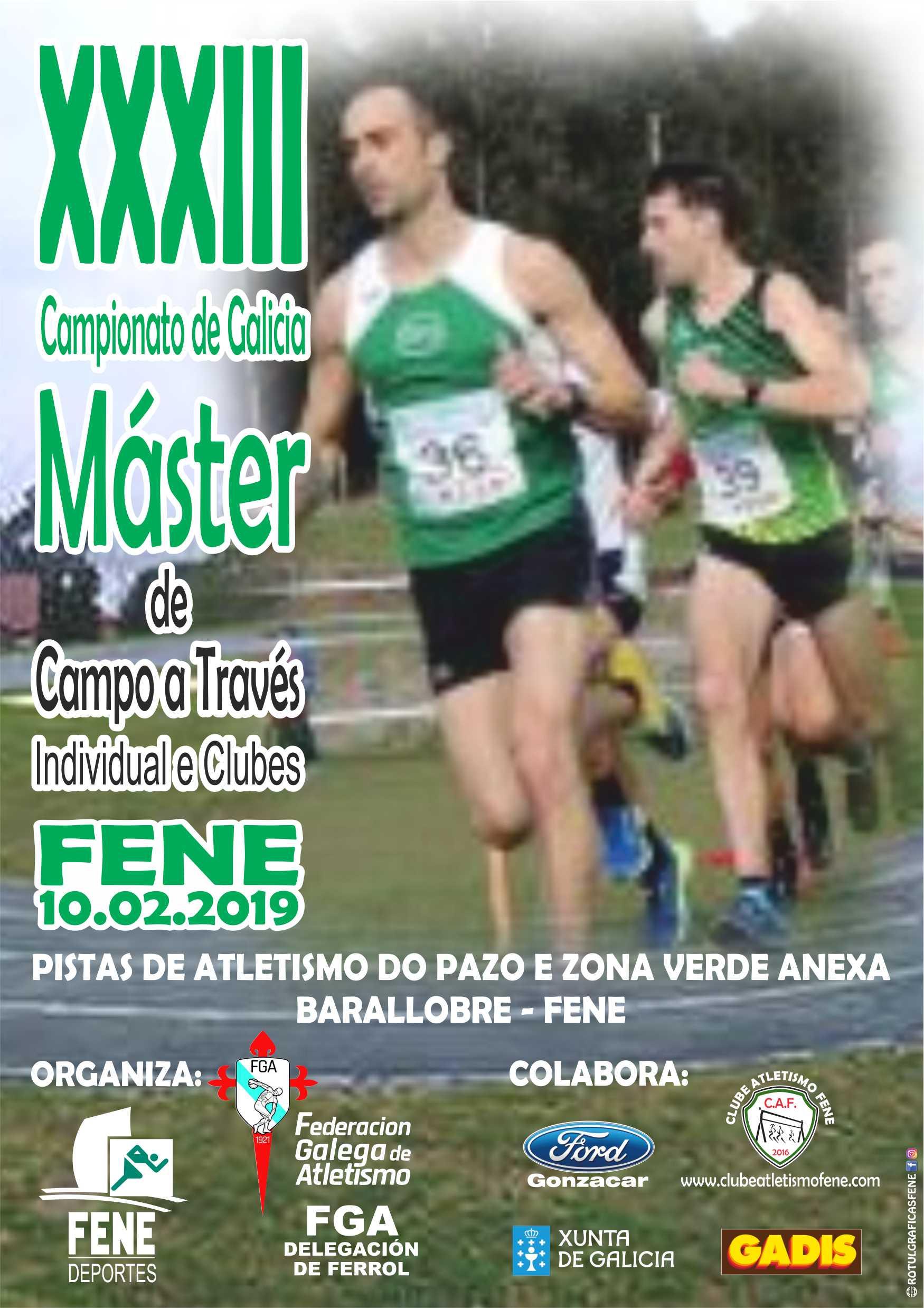 XXXIII Campionato de Galicia Máster de Campo a Través Individual e Clubs