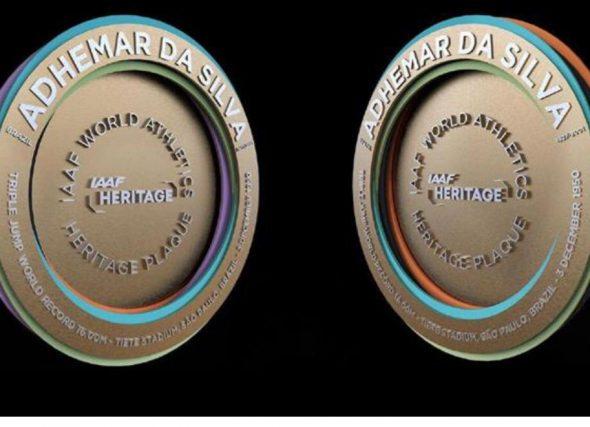Placa ao Patrimonio Mundial para o G.P. de Marcha Cantones