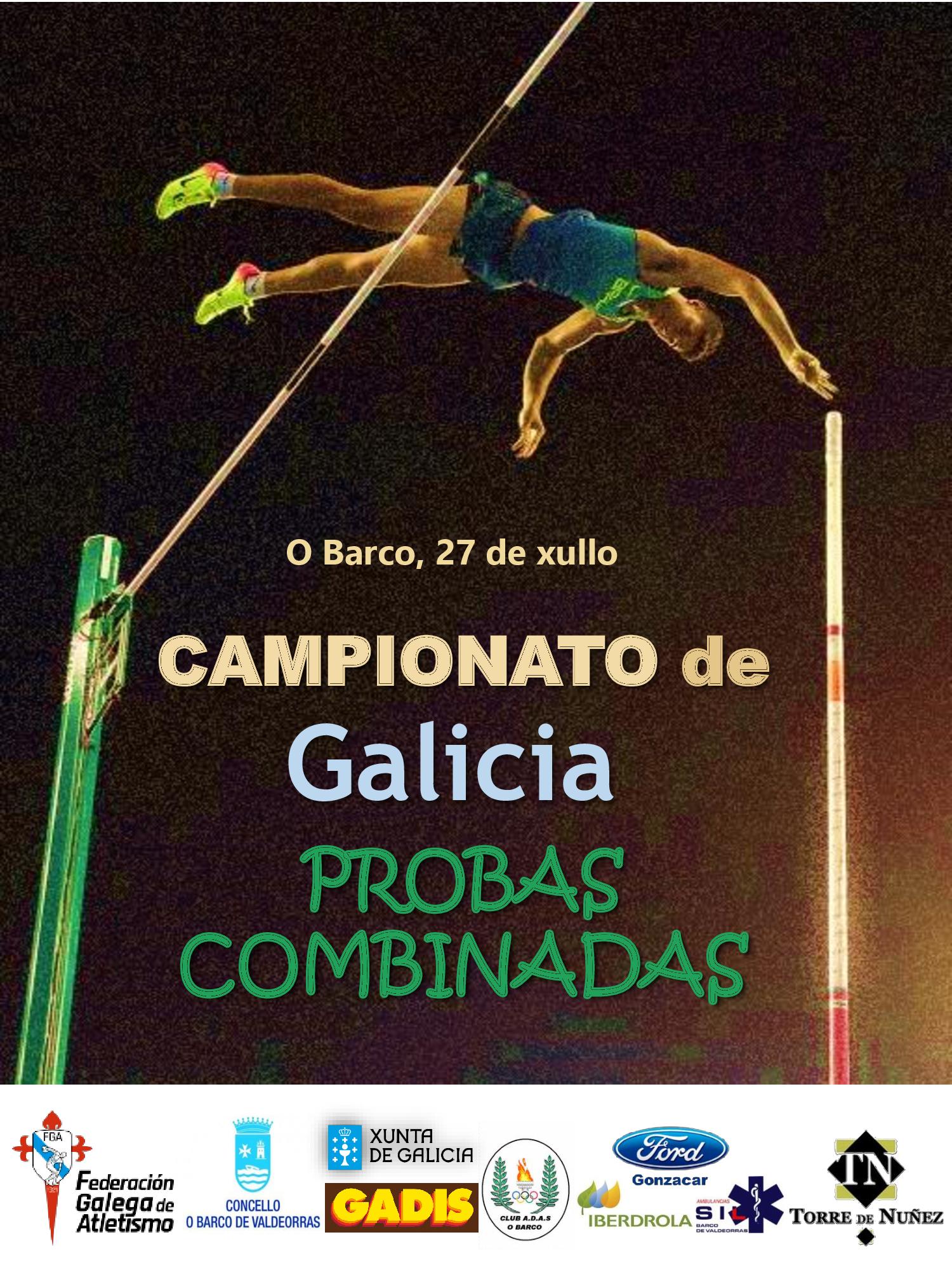 Campionato de Galicia de Probas Combinadas (Sub16 ata Máster) 2018/2019
