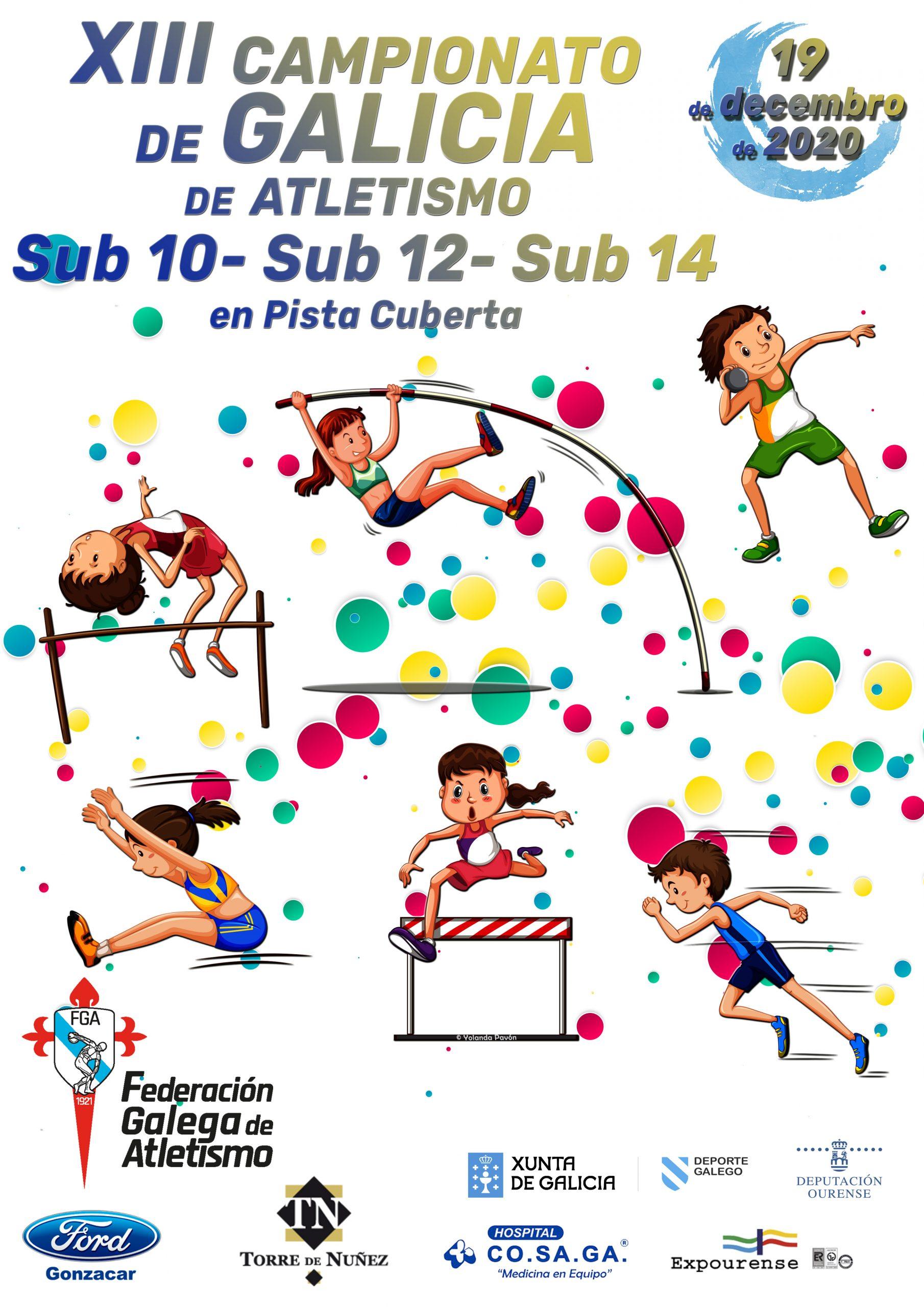 XIII Campionato de Galicia Sub10 – Sub12 – Sub14 en Pista Cuberta