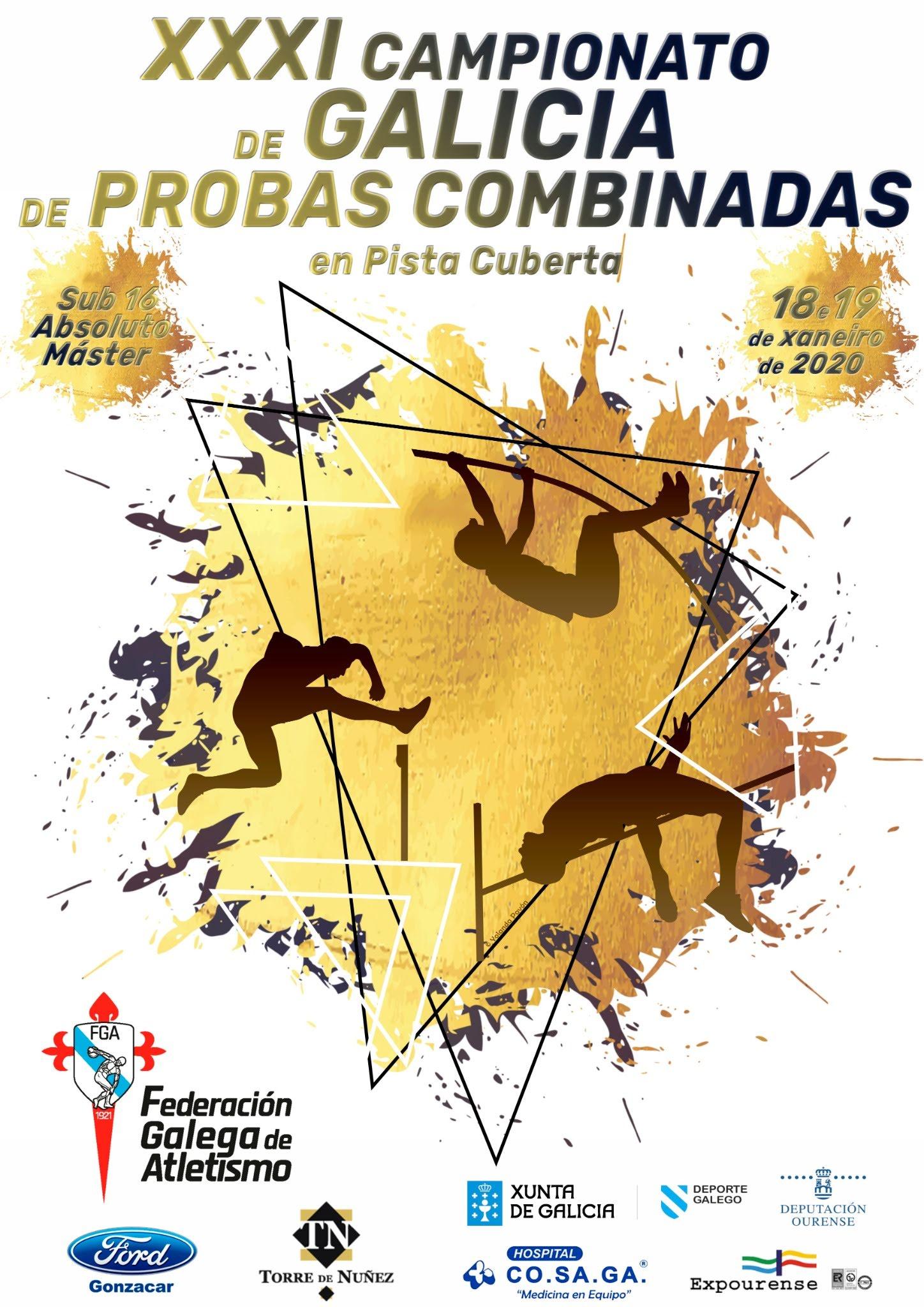 XXXI Campionato de Galicia de Probas Combinadas en Pista Cuberta (Absoluto – Sub16 – Máster)