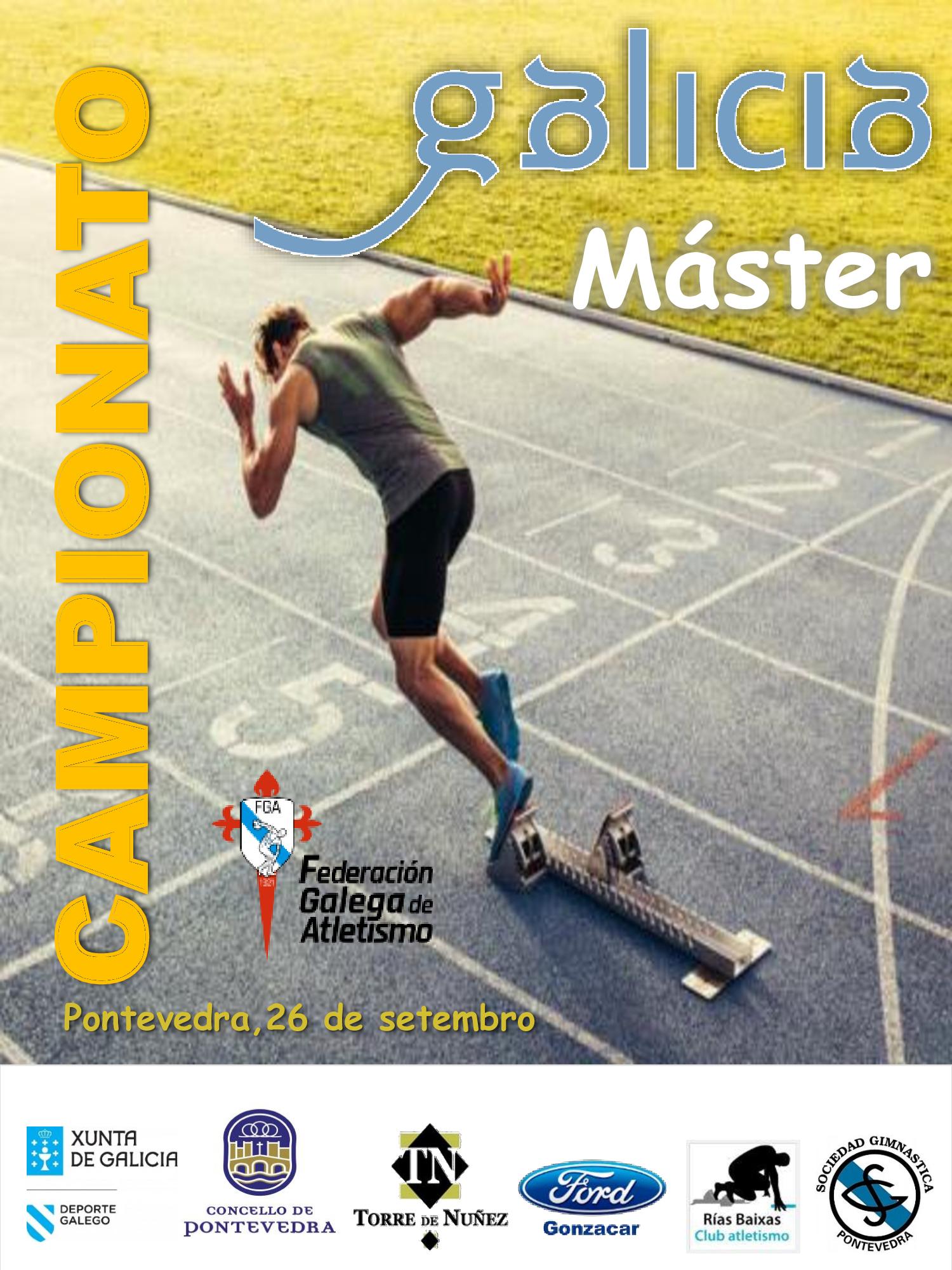 XXXIII Campionato de Galicia Máster en Pista ao Aire Libre