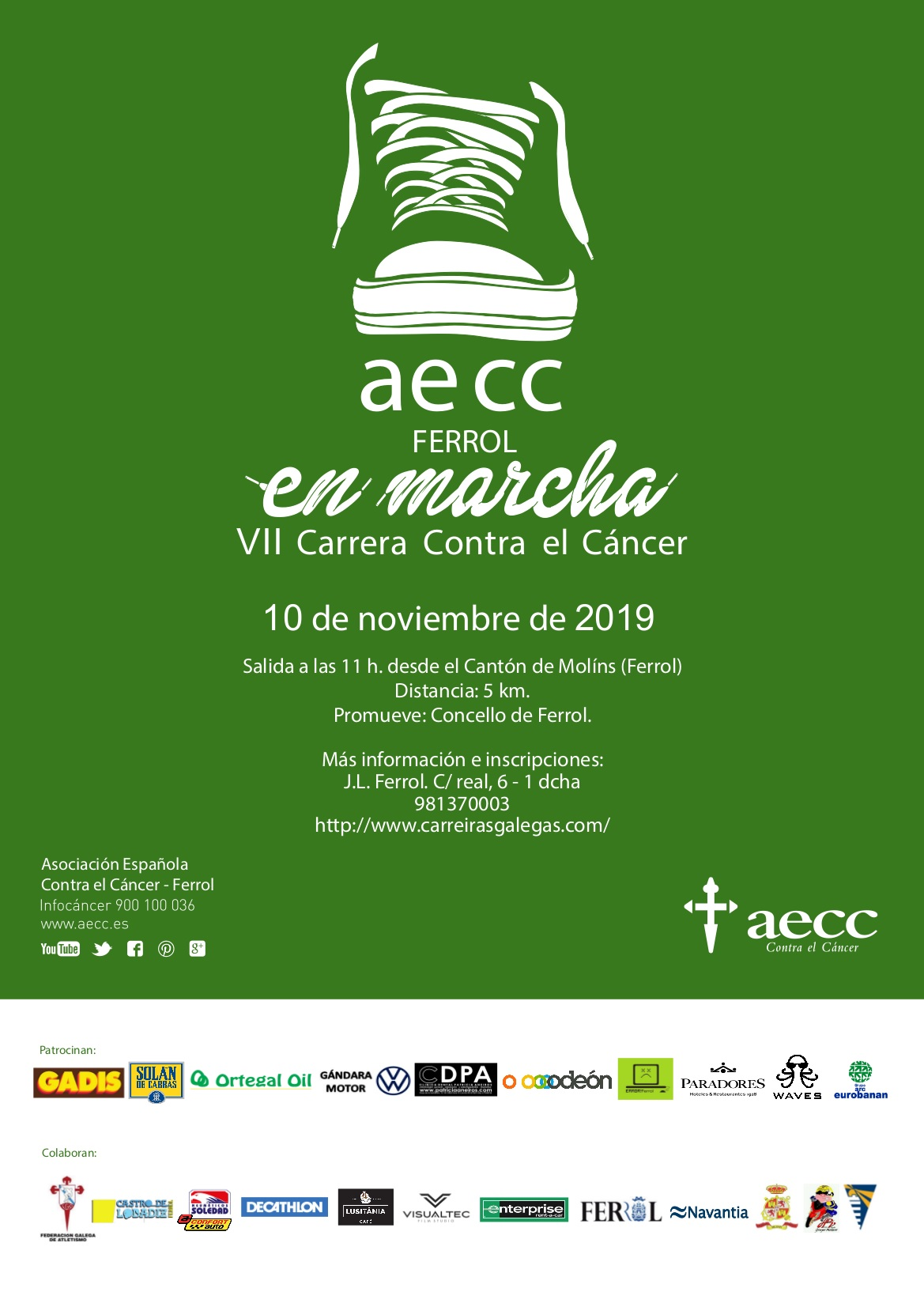 AECC en Marcha – Corre conta o Cancro – Corre por Ferrol 2019