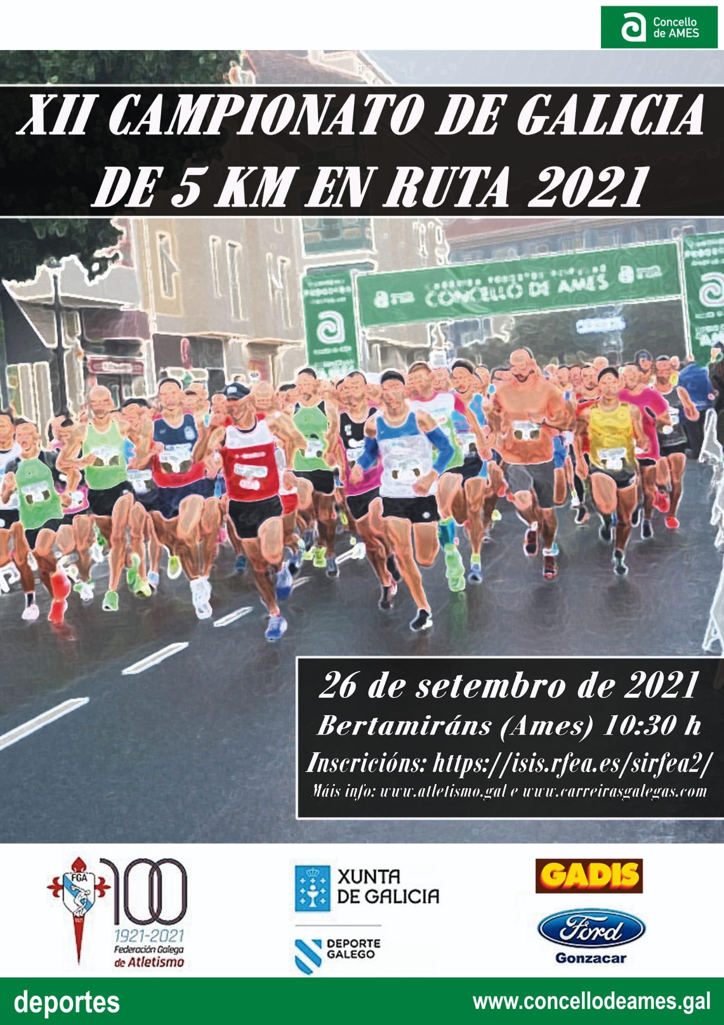 Campionato Xunta de Galicia Absoluto de 5Km Ruta e das Categorías Sub 18, Sub 20, Sub 23 e Máster