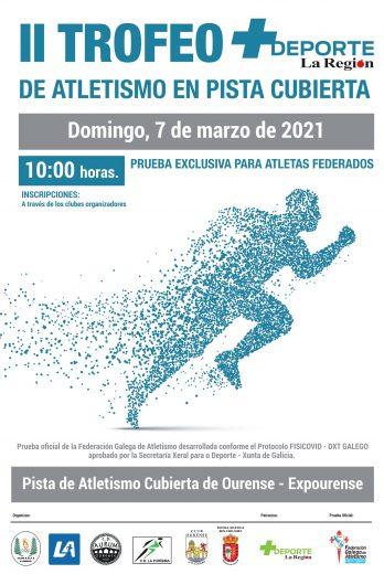 II Trofeo + Deporte La Región de Atletismo en Pista Cuberta